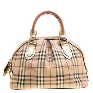 Authentic Burberry signature satchel